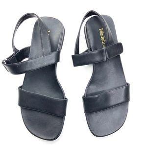 Madeline   Genuine Leather Black Sandal